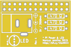 Raspberry Pi Power Connector And RGB LED
