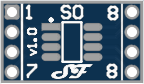SOIC08 or TSSOP08 to DIL Adapter