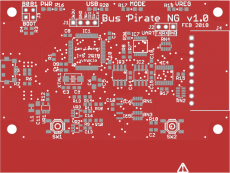 Bus Pirate NG1 alpha 3 PCB