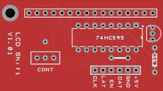 LCD shift register backpack 16x1 header
