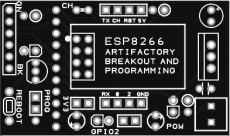 ESP8266 breakout for ESP 01 form factor