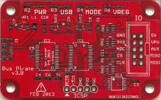 Bus Pirate v3.8 PCB