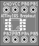 ATTiny10S Breakout board
