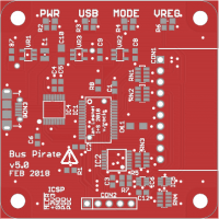 Updated Bus Pirate v3.x concept design (Molex USB connector)